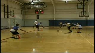 Crossover Cone Dribbling Drill, Youth Basketball Drill, Coaching Tips