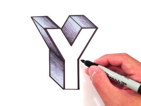 How to Draw the Letter Y in 3D