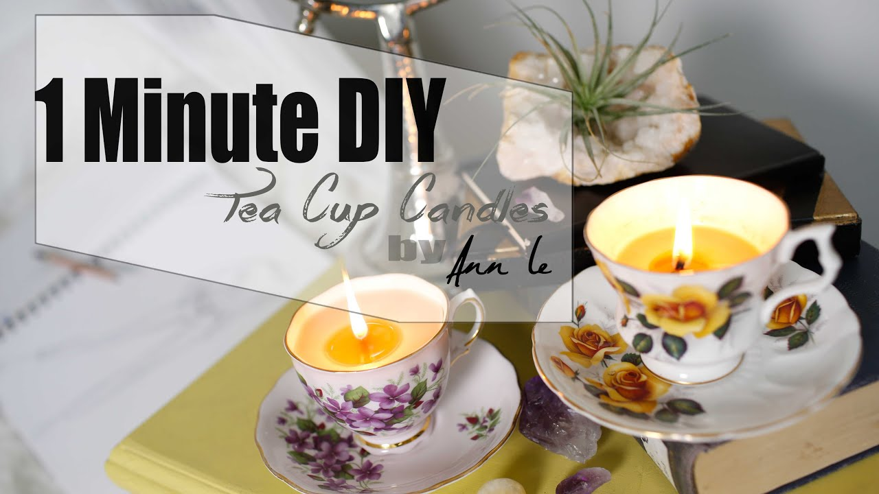 diy tea cup candles wedding decor ann le youtube