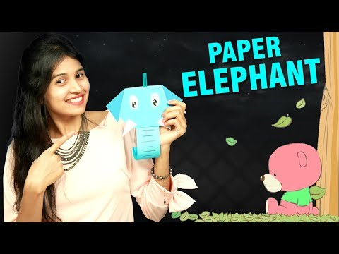 DIY Paper Elephant With Moving Trunk | Making Of Paper Elephant For Kids | Easy DIY Crafts For Kids
