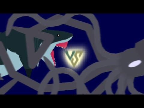 The Megalodon VS The Kraken - YouTube