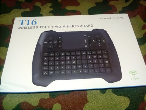 Anewkodi T16 Wireless Touchpad Mini Keyboard Review Deutsch