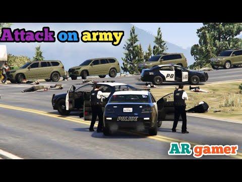 GTA 5 | Attack on Army Protocol | Michael kill Army General |AR gamer |