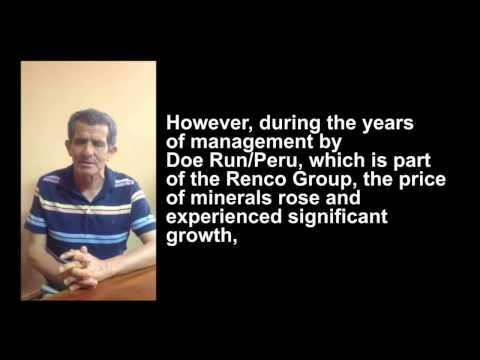 Conrado Olivera of Red Uniendo Manos Peru Discusses the Renco Investor-State Case