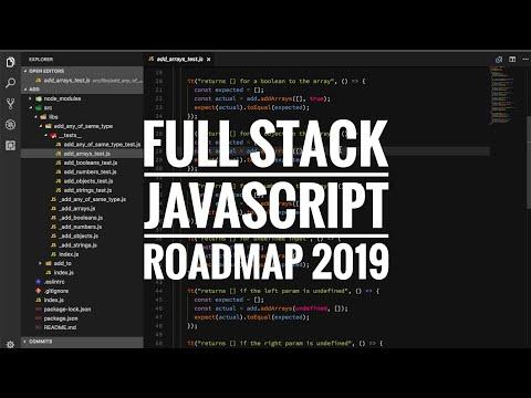 Full stack JavaScript roadmap 2019
