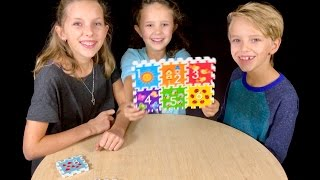 Learn English Numbers! Colorful Puzzle with Sign Post Kids!