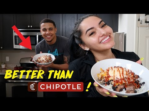 HOW TO MAKE A BOWL BETTER THAN CHIPOTLE!! | KB & KARLA