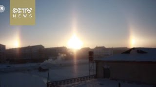 """Shock:""""3 Suns"""" spotted in the sky of Inner Mongolia"""