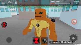 The Ben 10 game on Roblox