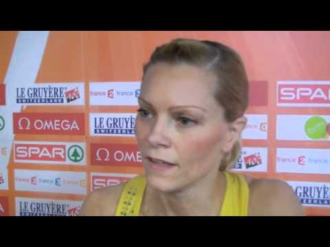 Lena Berntsson (SWE) after 60m first round