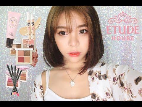 🌸 One Brand Makeup Tutorial ETUDE HOUSE 🌸 원브랜드 메이크업 에뛰드하우스 | Erna Limdaugh