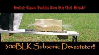 Lehigh Defense 300BLK 226gr Subsonic Experiment #1 Ballistic Gel Tests