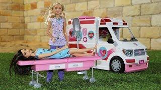 Ambulância de luxo da boneca Barbie