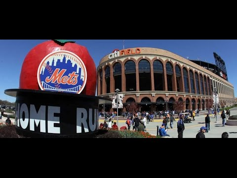 Walking On The New York Mets Field