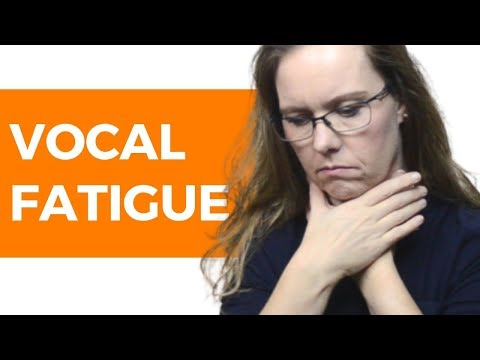 Vocal Fatigue Explained: Voice Care Tips (for a Tired Voice)