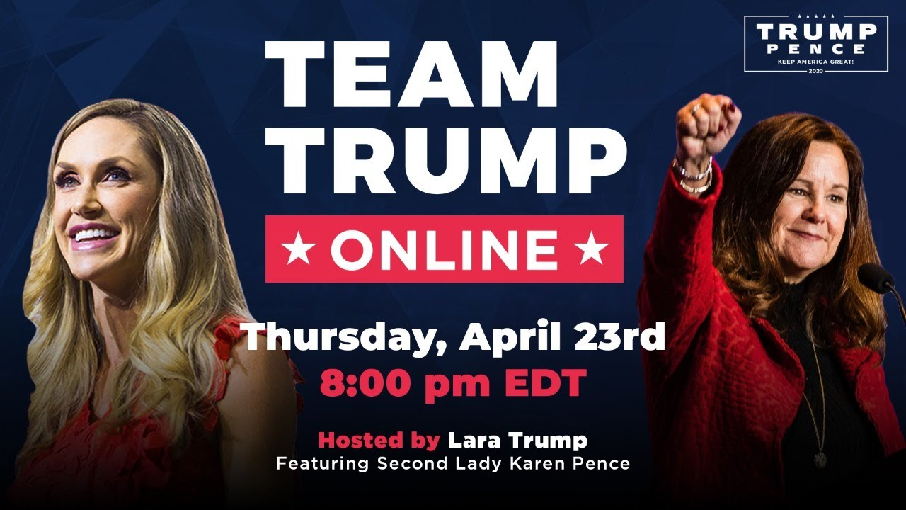WATCH: Team Trump Online with Lara Trump and Second Lady Karen Pence!