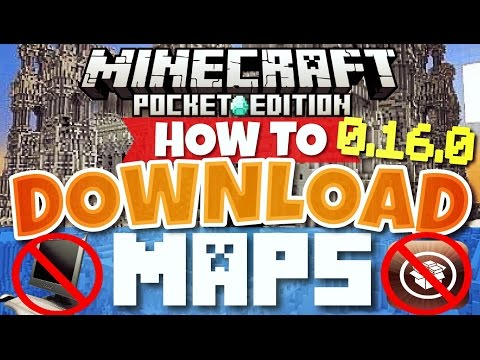 Minecraft Pocket Edition 0.16.0 - HOW TO DOWNLOAD MAPS! {iOS} | how to get maps on iOS [MCPE 0.16.0]