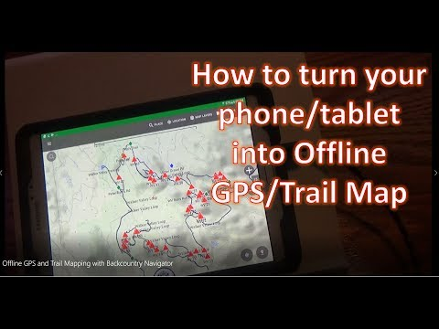 Offline GPS and Trail Mapping with Backcountry Navigator