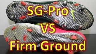 Nike SG-Pro VS Firm Ground Stud Pattern (Nike Mercurial Vapor VIII)