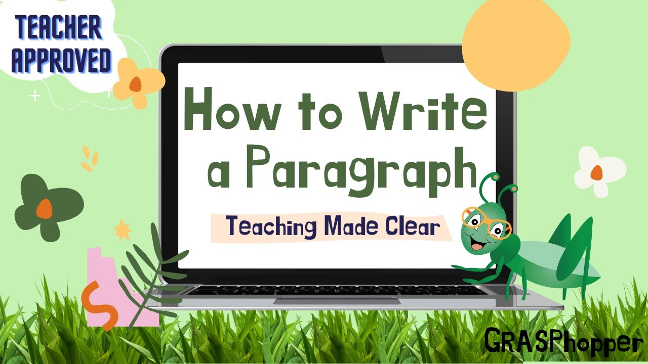 How to Write a Paragraph for Kids: Teaching Lesson in English
