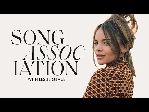 """Leslie Grace Sings Donna Summer, """"When You're Home"""" & """"Conga"""" in a Game of Song Association"""
