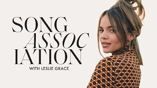 """Leslie Grace Sings Donna Summer, """"When You're Home"""" & """"Conga"""" in a Game of Song Association 