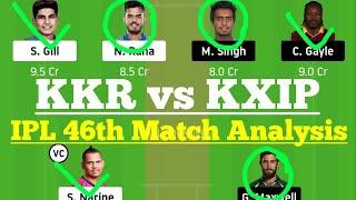 KKR vs KXIP Dream11, KKR vs KXIP Dream11 Prediction, KKR vs KXIP Dream 11 Team, KOL vs KXIP Dream11