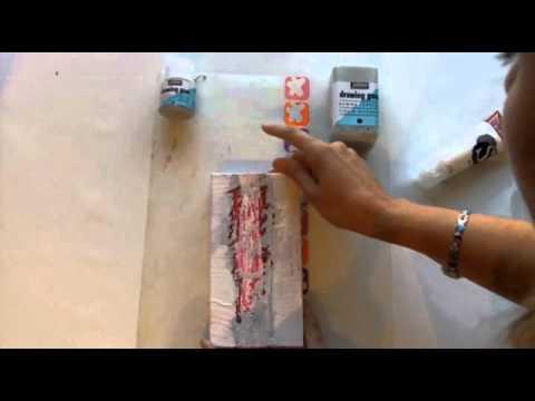 drawing gum p b o utilisation avec de la peinture acrylique youtube. Black Bedroom Furniture Sets. Home Design Ideas