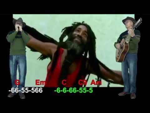 nº206 Redemption ( Bob Marley ) tablatura armonica diat.G + guitar  Mundharmonika