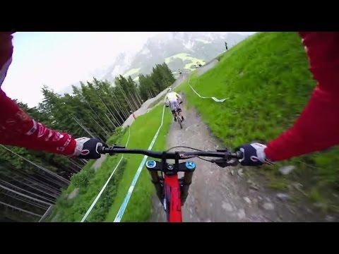 Claudio Caluori Downhill MTB Course Preview in Leogang