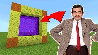 How To Make a Portal to the Mr Bean DIMENSION in Minecraft PE