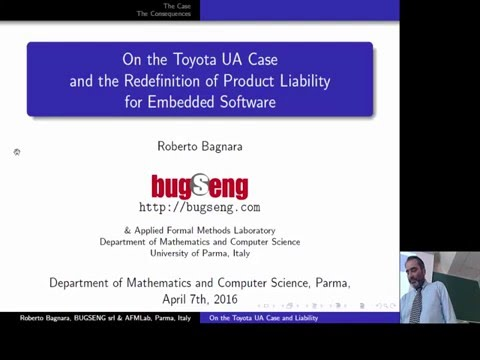 Toyota Unintended Acceleration Case and Product Liability for Embedded Software