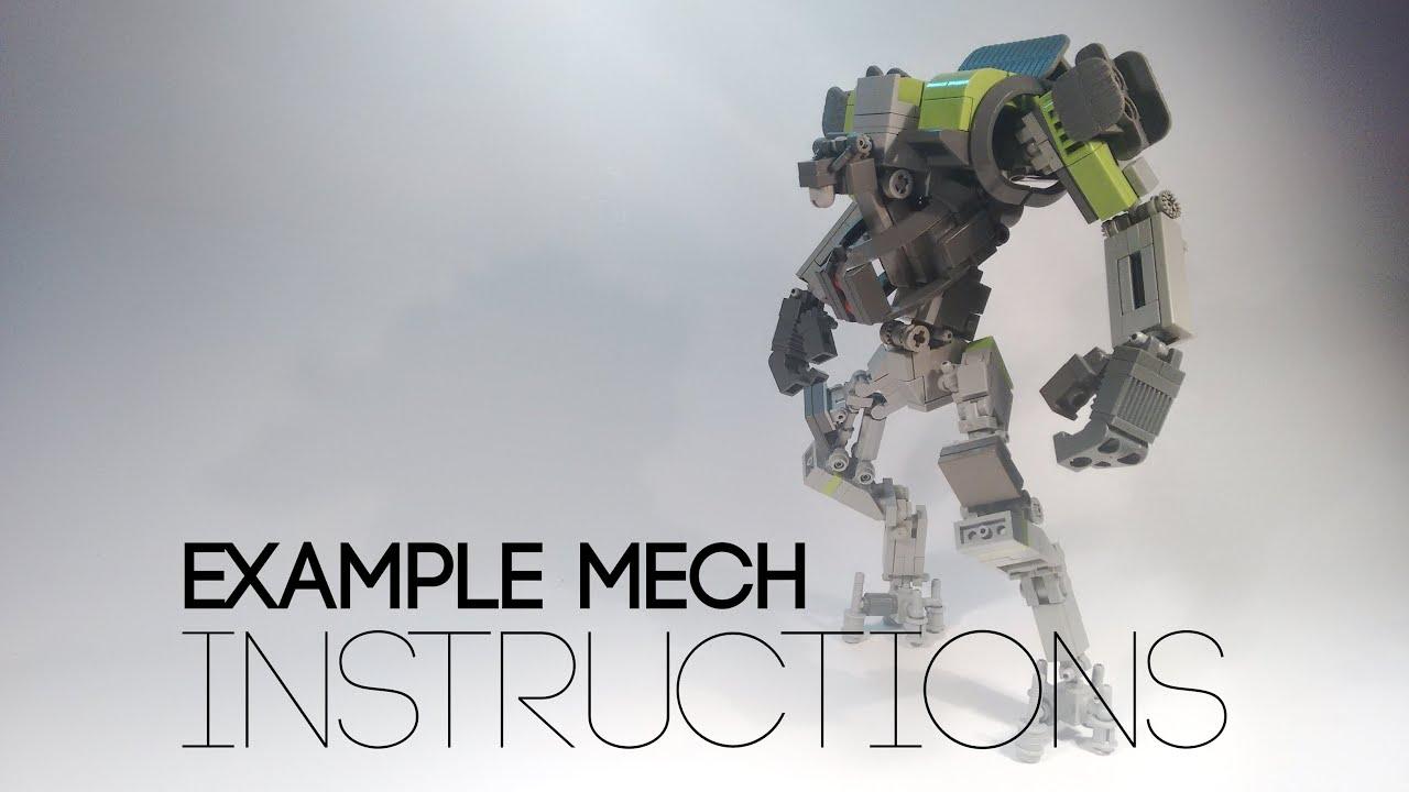 Lego Mech Design [06]: Example Mech instructions