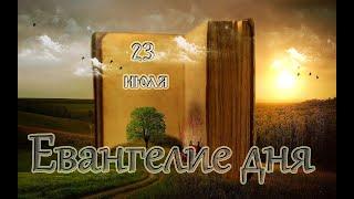 Евангелие дня. Чтимые святые дня. Седмица 7-я по Пятидесятнице. (23 июля 2020 года)