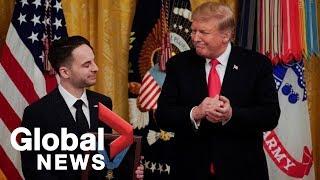 Trump awards posthumous Medal of Honor to Iraq war hero