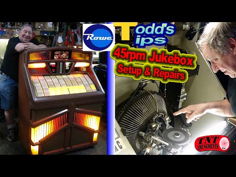 """#1656 ROWE 45rpm JUKEBOX Repair Advice-Packing Tips-Adjustments-""""Todd's Tips""""  - TNT Amusements"""