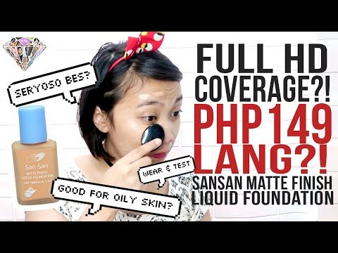 149 PESOS NA FOUNDATION?! | SHOOKT SI AKO! 😱 | Sansan Liquid Foundation Review