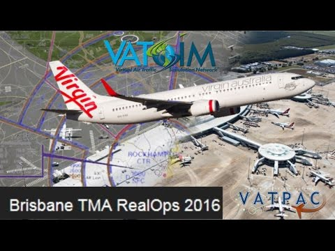 PMDG 737NGX flies Rockhampton to Brisbane on Vatsim FSX