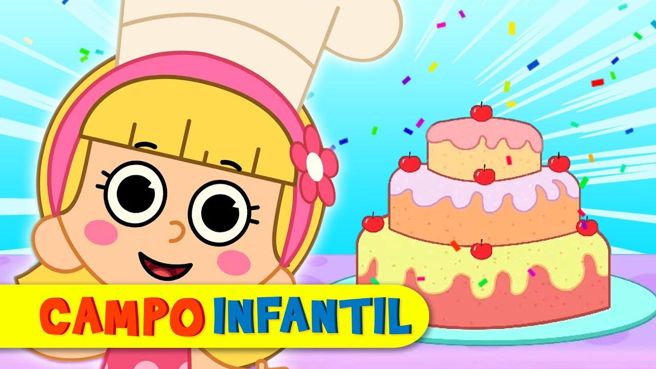 Elly y Eva hacen un pastel contando hasta 10 - Canciones infantiles animadas | Campo Infantil