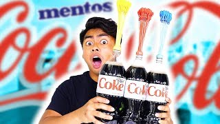 diet coke mentos balloon experiment explosion