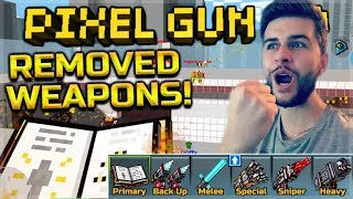 USING THE REMOVED OP WEAPONS FOR THE LAST TIME EVER! | Pixel Gun 3D