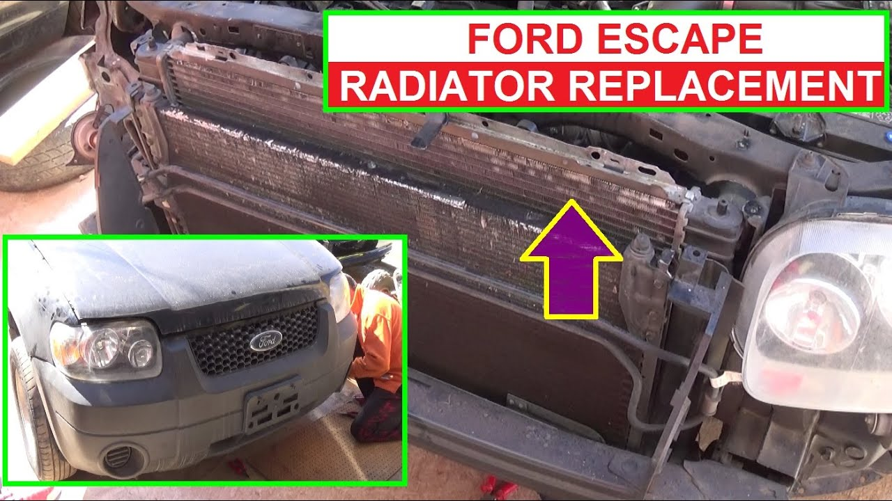 ford escape radiator removal and replacement 2 0 2 3 3 0 engine mercury mariner [ 1280 x 720 Pixel ]