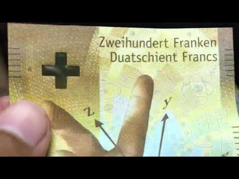 200 CHF SWISS FRANC NEW BANKNOTE