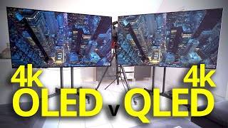 "OLED 4K TV vs QLED 4K TV - best 77"" screen test"
