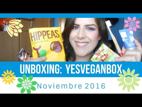 Unboxing: YesVeganBox Noviembre 2016 - AítaTutoriales