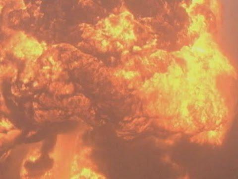 Raw: Large Flames Near WV Train Derailment