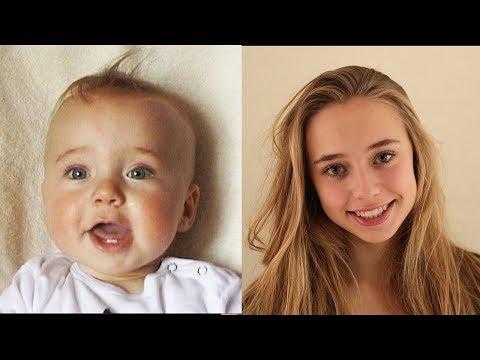 4 Dakikada 0 Yaşından 16 Yaşına Kadar Büyüyen Kız !