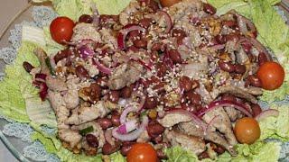 вкусный салат из фасоли без майонеза
