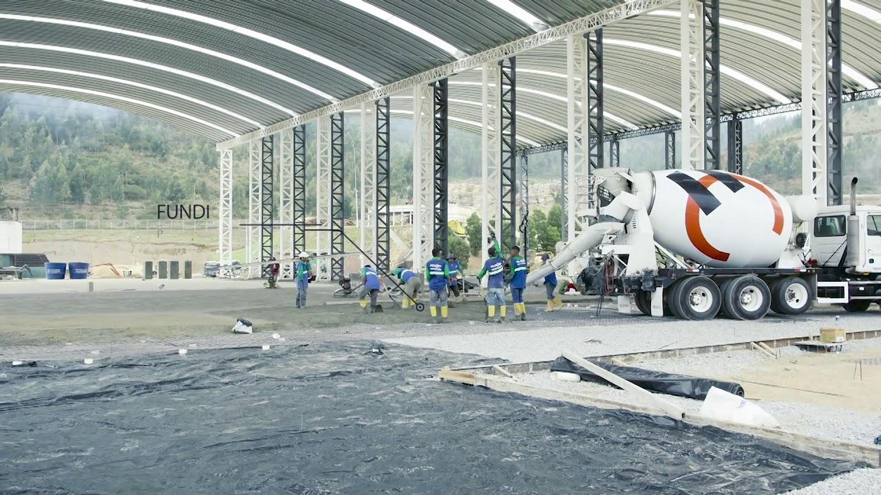 Construcci n de piso industrial con refuerzo de malla for Malla de construccion