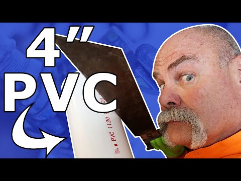 EASY WAY to Get a Clean Cut on 4 INCH PVC